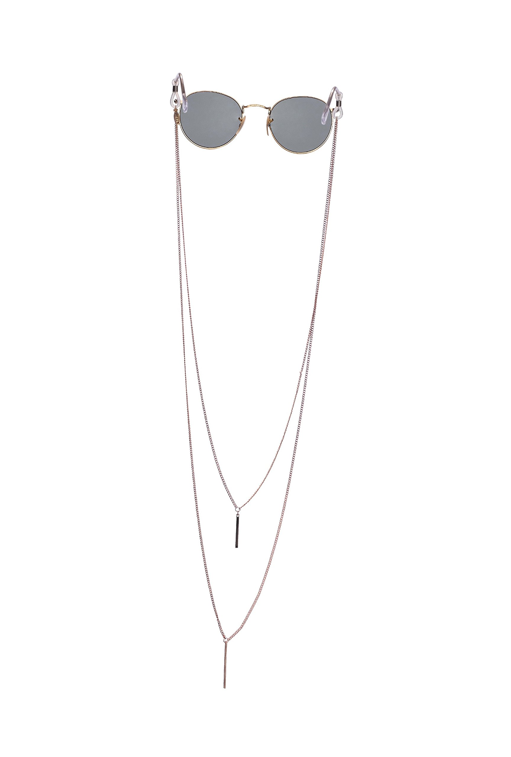 Sintillia Barre Backlace Statement Sunglass Strap, Glasses Chain, Eyeglass Cord (Rose Gold with Black Attachments)