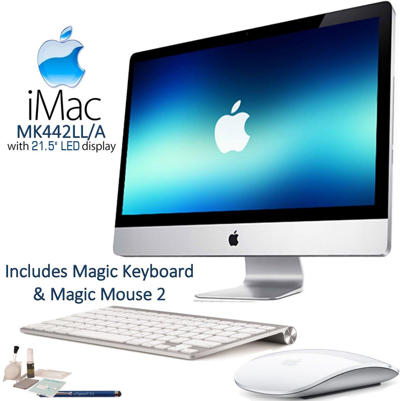 Apple iMac MK442LL/A 21.5'' LED Display Desktop Computer Starters Bundle: Includes Apple Magic Keyboard (MLA22LL/A) & Magic Mouse 2 (MLA02LL/A) and more...