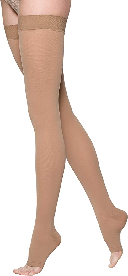 SIGVARIS Women/'s Essential Cotton 230 Closed Toe Thigh-Highs w//Grip-Top 20-30mmHg