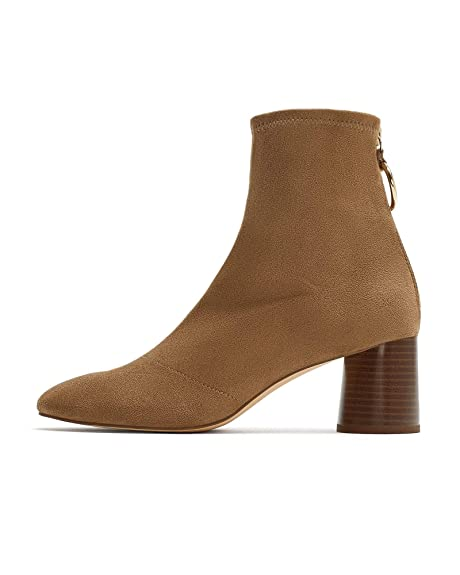 7958f544505 Zara Women s Stretch Heeled Ankle Boots with Ring Detail 2104 001 (3 UK)