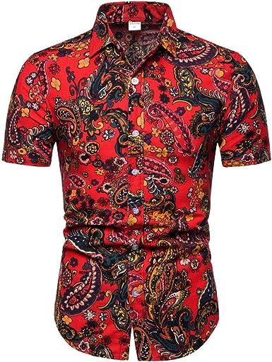 Oliviavan Camiseta de Manga Corta para Hombre, Moda Hombre Camisetas de Manga Corta de Camiseta de Solapa de impresión Casual Camisas Urbanas Hombre: Amazon.es: Ropa y accesorios