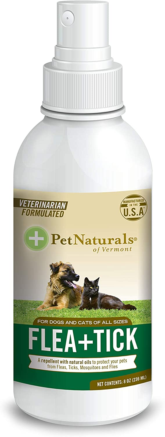 Pet Naturals of Vermont- FLEA + TICK Repellent Spray, 8-Ounce