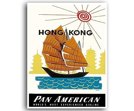 Amazon.com: Hong Kong China Art Travel Poster Vintage Gift Office ...