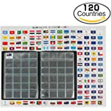 Coin Collecting Starter Kit 120 Coins Collection Storage Holder Leather Album with Flag Pocket, 295 Countries in World History and US State Flagsas Gift