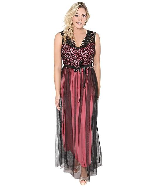 0b61544b0 KRISP Vestido Largo Fiesta Tallas Grandes Elegante Noche  Amazon.es  Ropa y  accesorios
