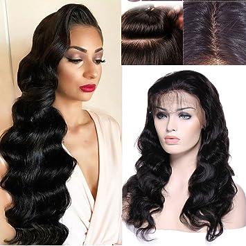 8A Glueless Lace Front Human Hair Wigs for Black Women Body Wave Brazilian Virgin Hair Full