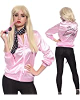 TDmall 50S Grease T-Bird Danny T Bird / Pink Ladies Jacket Costume Fancy Dress