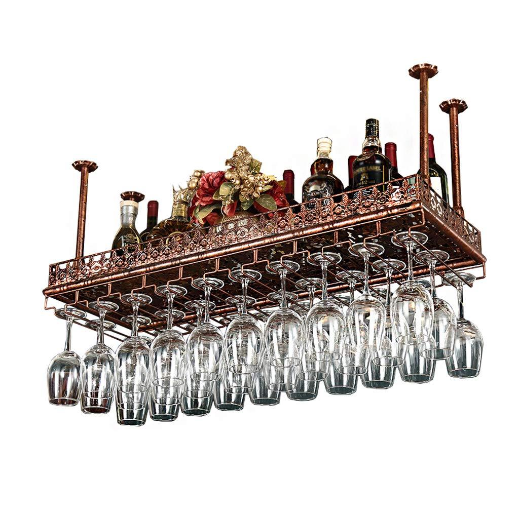 Estante del vino del hierro labrado, Gabinete de vino colgante ...