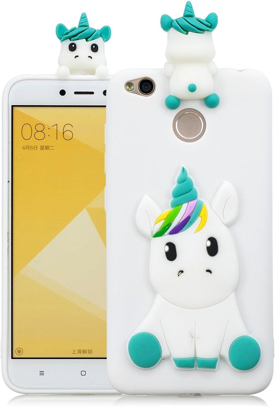CXTcase Funda Xiaomi Redmi 4X Carcasa 3D Unicornio TPU Silicona ...