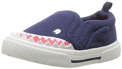 f612ee4bc0e carter's Boys' Damon Casual Slip-on Sneaker, Indigo, 4 M US Toddler