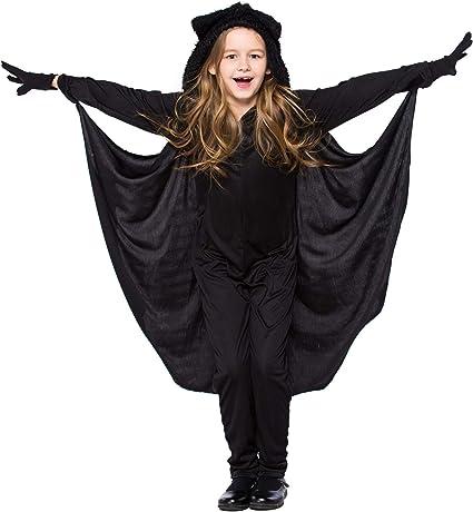 Bat Cape Kids Fancy Dress Spooky Vampire Wings Boys Girls Costume Accessory