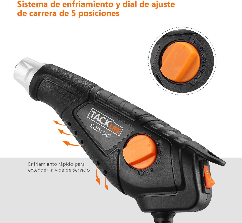 Pluma de Grabado Tacklife EGD15AC grabador potente 15W//6000rpm Velocidad de vibraci/ón//5 profundidad ajustable//4 puntas de acero de tungsteno//2 plantillas de 26 alfabetos//agujeros refrigerados