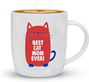 Triple Triple Gifffted Worlds Best Cat Mom Ever Coffee Mug Gifts For Cat Lovers, Women, Pet Lover, For Her Birthday, Crazy Cat Lady Memes Mugs, Christmas, Mothers Day, Pink, 13 Oz Cup, V1