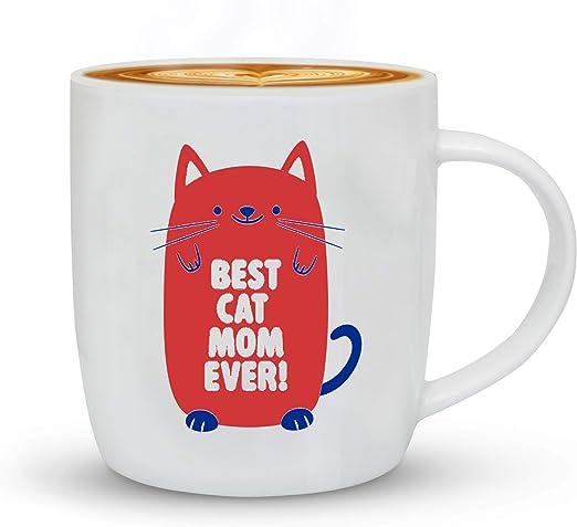 Amazon.com: Taza de café para mamá de gato, regalo de ...
