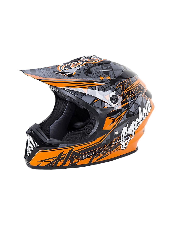 Orange Medium Race-Driven Cyclone ATV MX Motocross Dirt Bike Quad Off-road Helmet