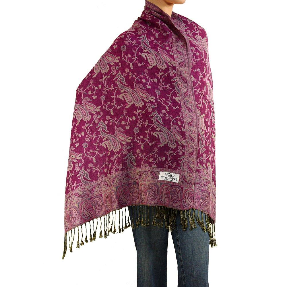Falari Women's Woven Pashmina Shawl Wrap Scarf 80 X 27 (Violet) XCA-50-A05-10