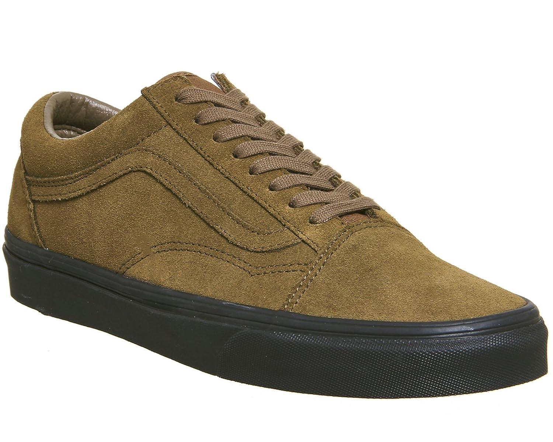 Vans Unisex Old Skool Classic Skate Shoes B071G36GJV 9.5 B(M) US Women / 8 D(M) US|Suede Teak Black
