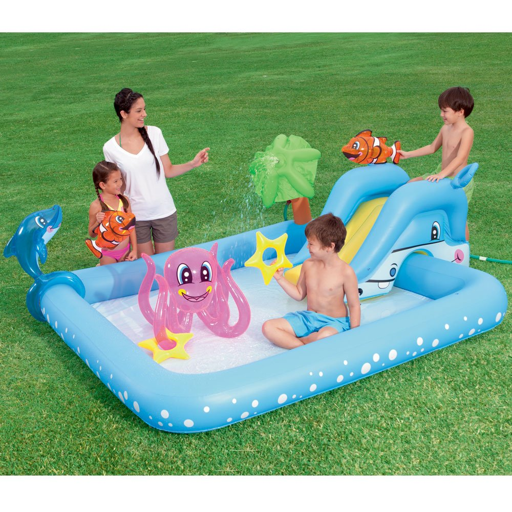 Planschbecken mit Rutsche Schwimmbecken Kinderpool Pool Swimmingpool Badespaß