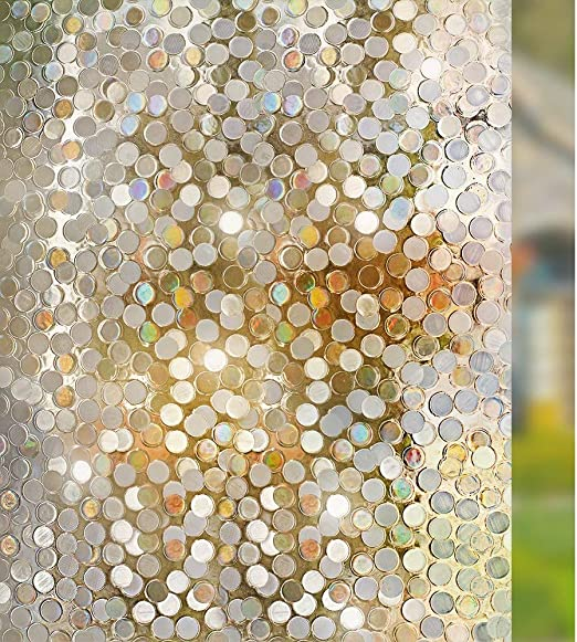 Rabbitgoo Window Film Self-Adhesive Frosted Glass Opaque Privacy Anti-UV Static