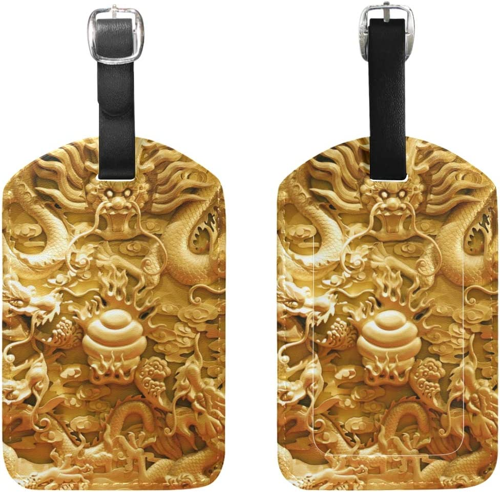 Dragon Pattern Handbag Tag For Suitcase Bag Accessories 2 Pack Luggage Tags