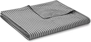 YnM Cotton Duvet Cover for Weighted Blankets (Grey White, 60''x80'') …