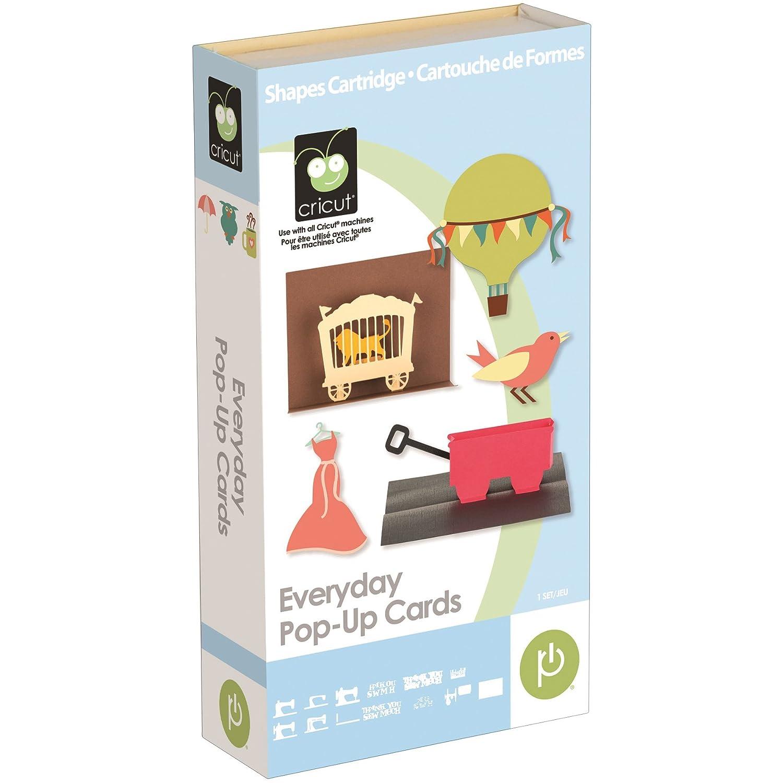 amazon com cricut 2001018 everyday pop up cards cartridge