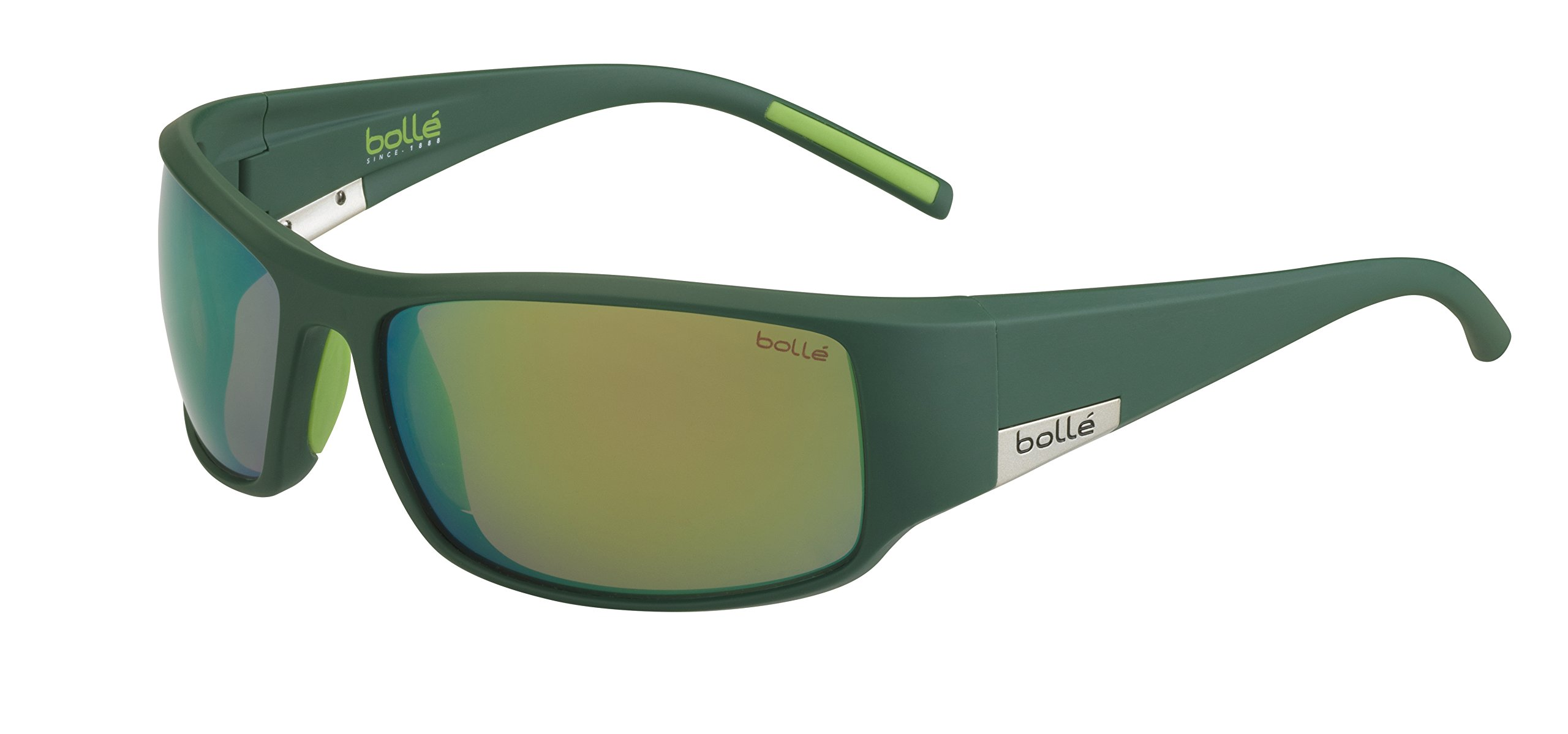 Bolle King Polarized Brown Emerald Oleo AF, Matt Mono Green by Bolle