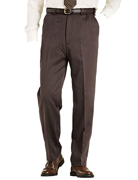 Chums Mens High Waisted Lined Formal Trouser Pants Amazon Co Uk