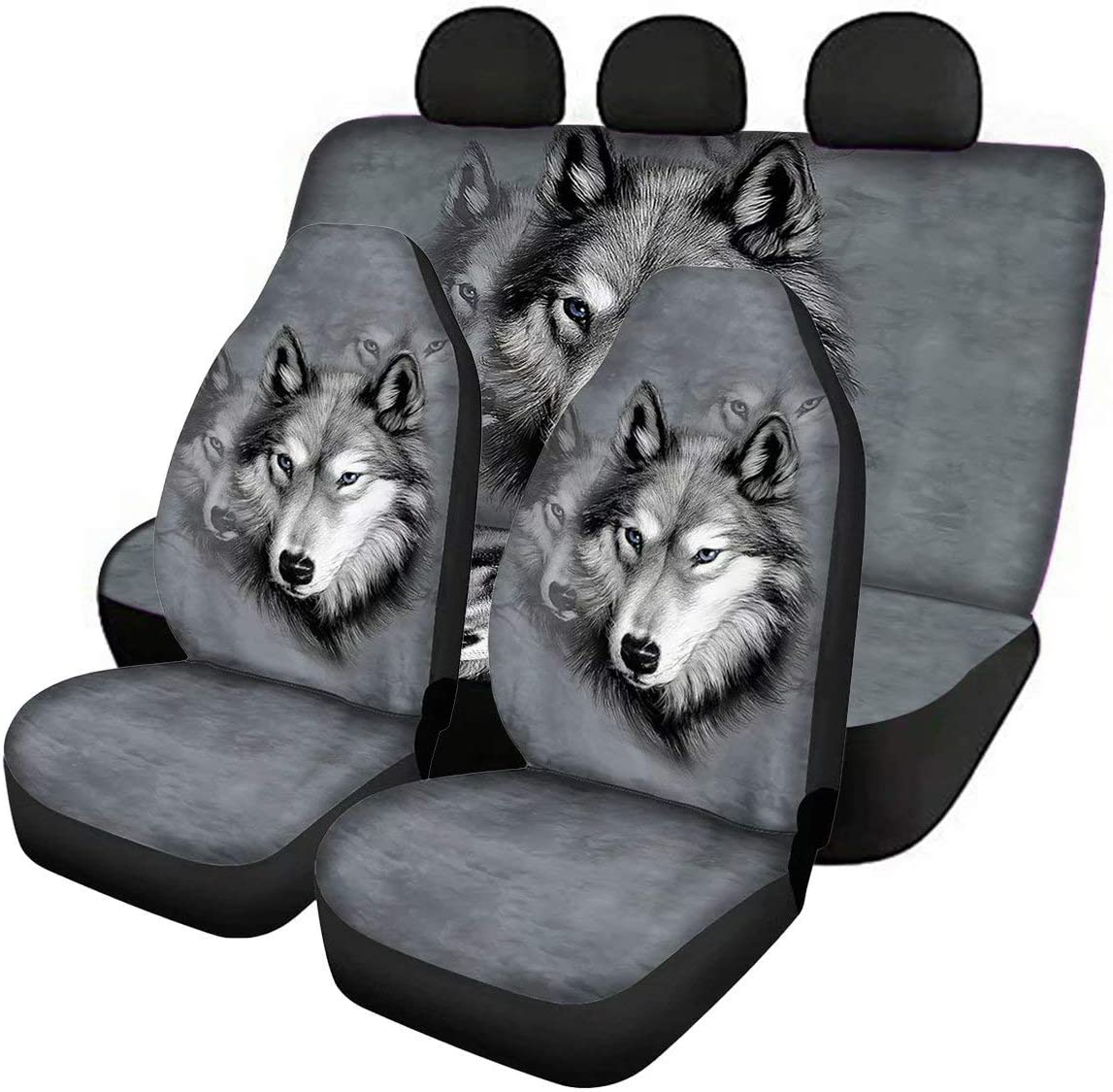 Pensura Gray Wolf Front and Rear Jacksonville Los Angeles Mall Mall Seat Bench Cover Back Only Full