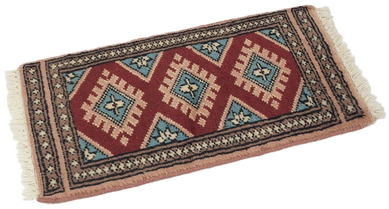 TD--0059-2-Pakistan Tapis Rugs Tappeto Mernuos Teppich 60x30 cm - Galleria farah1970