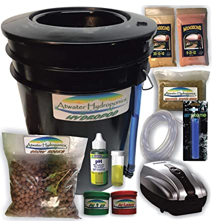 The Atwater HydroPod - Standard A/C Powered DWC Deep Water  Culture/Recirculating Drip Hydroponic Garden System Kit - Bubble Bucket -  Bubbleponics -