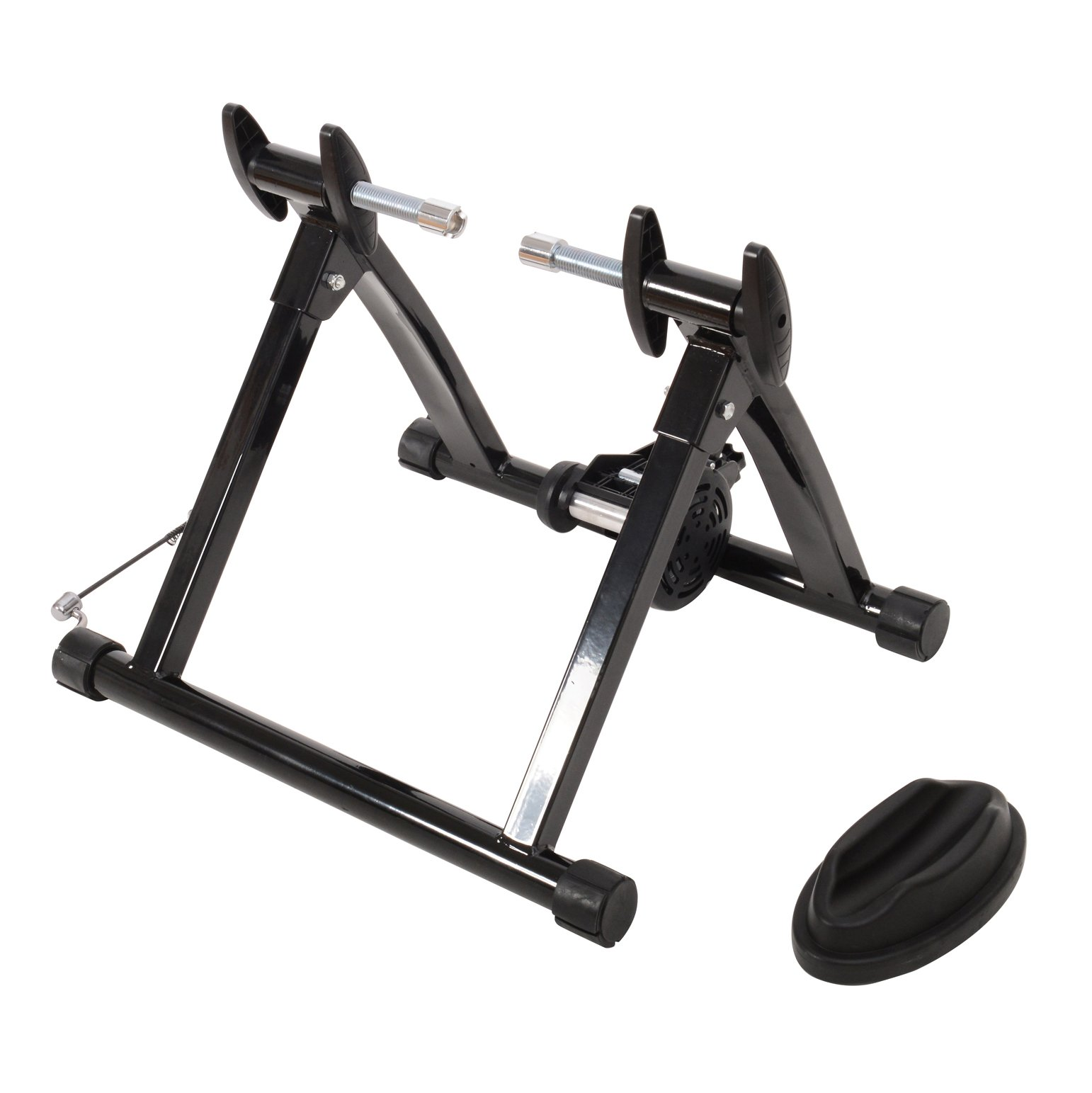 ALEKO MBT01 Portable Indoor Magnetic Bicycle Exercise Trainer Bike Stand with Noise Reduction Wheel Black by ALEKO (Image #2)