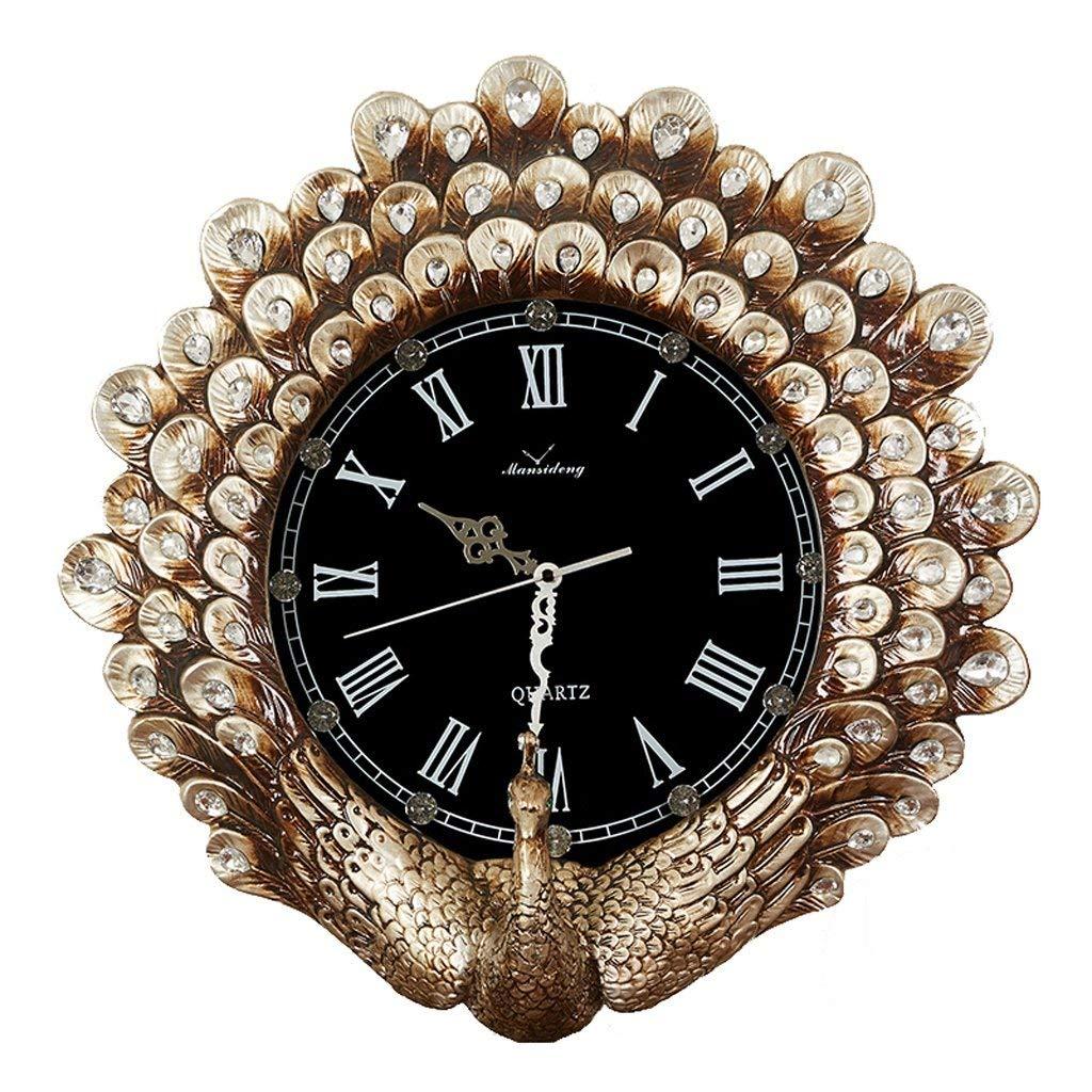 ホームデコレーションクリエイティブパーソナリティウォールクロックJYT、 高級ヨーロッパの壁時計リビングルーム樹脂クリエイティブアートミュートレトロな装飾時計 ファッション雑貨   B07QZQK4YJ