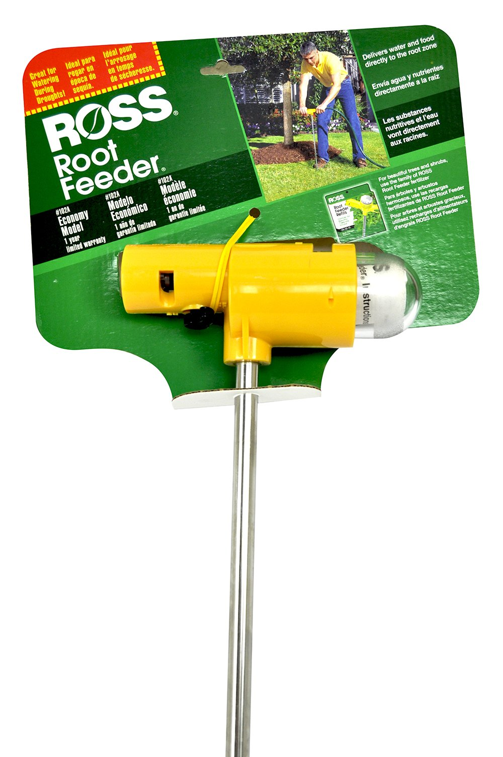 Ross Root Feeder Economy Model #102A, For Use Fertilizer Refills (Ideal for Watering During Droughts), 1 Year Limited Warranty