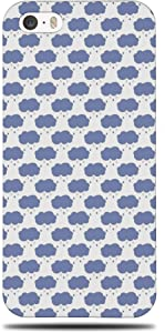 Foxercases Design (2020) #1 Raindrops RAIN Cloud Pattern Hard Phone Case Cover for Apple iPhone 5 / 5S / SE (2016)
