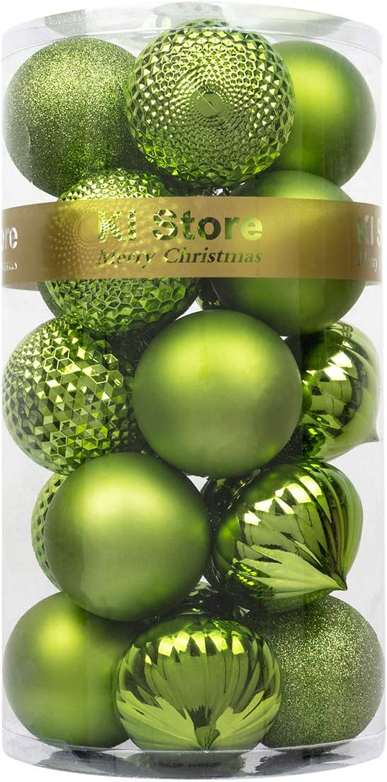 KI Store Christmas Balls Light Green 3.15-Inch Shatterproof Christmas Tree Ball Ornaments Decorations for Xmas Trees Wedding Party Home Decor