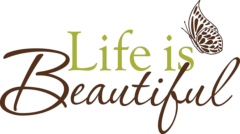 Wallpops Self Adhesive Wall Words, Life is Beautiful: Amazon.co.uk ...