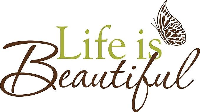 Wallpops WPQ96853 La vida es cita hermosa Tatuajes de pared Frases ...