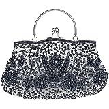 Albabara Satin Beaded Handmade Clutch Purse Evening Handbags