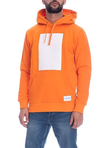 Calvin Klein Felpa con Cappuccio Uomo Arancione  Amazon.it  Abbigliamento e3bb551b3e39