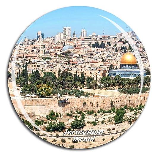 Weekino Ciudad Vieja de Jerusalén Israel Imán de Nevera Cristal 3D ...