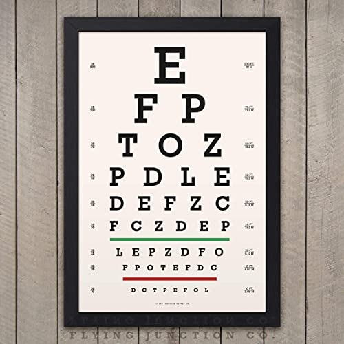 Amazon Eye Chart Print Snellen Vintage Look Handmade