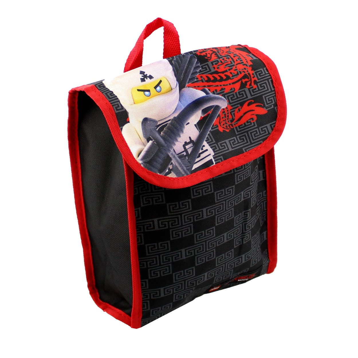 Pencil Case and Carabiner Clip LEGO LNCF519ZA Ninjago 16 Backpack 5pc Set with Snack Tote Wallet Black