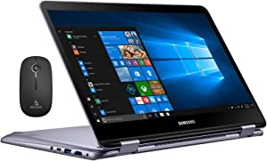 2020 Samsung_Notebook 7 Spin 13 FHD 1080P Touchscreen 2-in-1 Laptop| Intel Core i5-8250U up to 3.4GHz| 8GB LPDDR3 RAM| 512GB SSD| FP Reader| Backlit KB| Win 10 + NexiGo Wireless Mouse Bundle