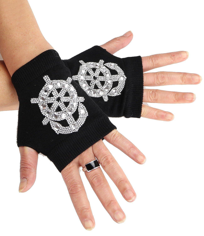 Caripe Armstulpen Damen Handschuhe fingerlos Handstulpen Strick Stulpen kurz - ku ku23