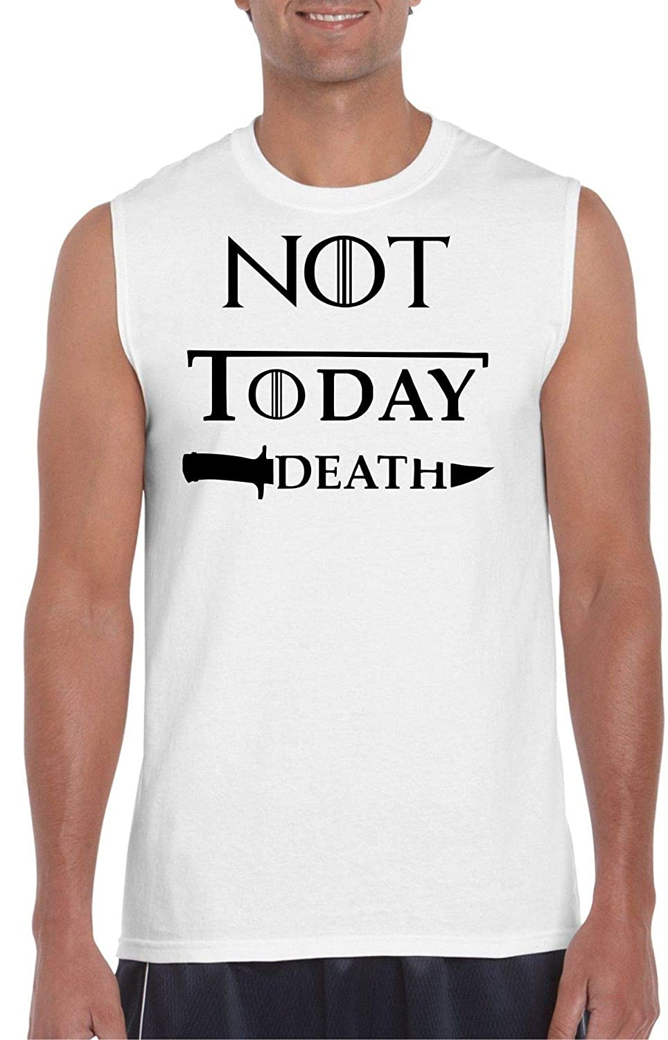 Not Today Death White Muscle T G.O.T