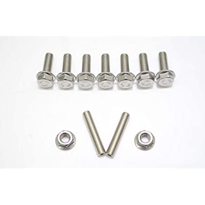 1320 Performance Stainless Exhaust manifold Stud Studs Bolt Kit B D H F GSR Si b16 b18c b18b ITR (11pc - Bolt & Nut): Automotive