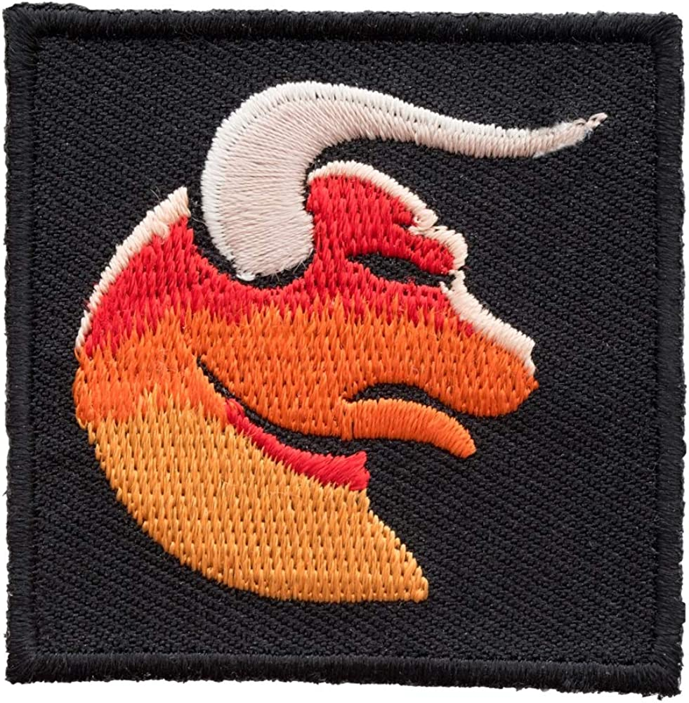 Astrology Sign Patches Zodiac Taurus Orange Bull With Horns Patch