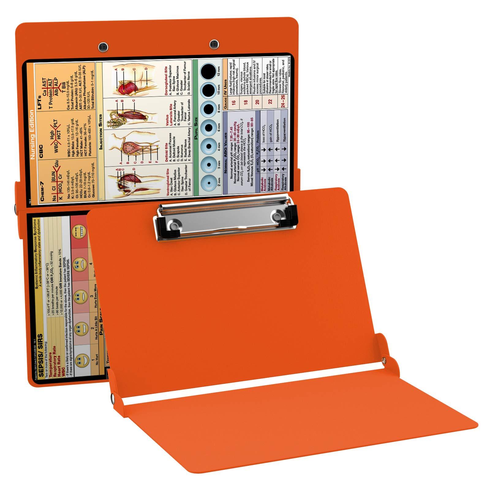 WhiteCoat Clipboard- Safety Orange - Nursing Edition by WhiteCoat Clipboard