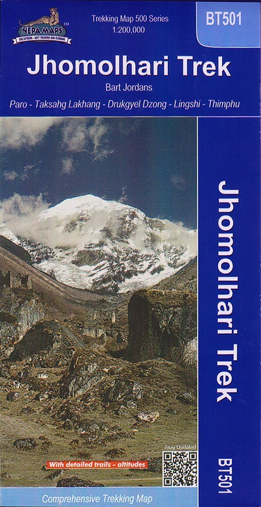Buthan: Jhomolhari Trek Map (BT501) ebook